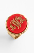 Moon and Lola Women's 'Vineyard' Personalized Monogram Ring