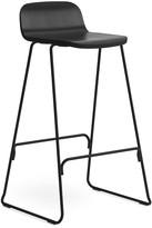 Normann Copenhagen Just Barstool With Back - Black - 65cm