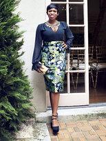 New York & Co. Charisma Jacquard Pencil Skirt
