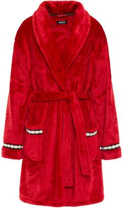 DKNY Monogram-trimmed Fleece Robe