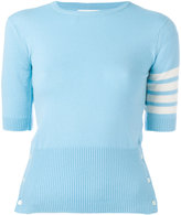 Thom Browne shortsleeved knit top - women - Cashmere - 40