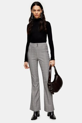 Topshop Black And White Flare Pants