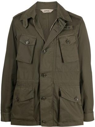 Aspesi Long Sleeve Buttoned Flap Pocket Jacket