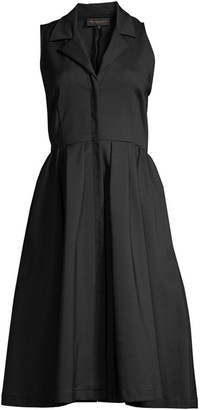 Donna Karan Fit & Flare Shirt Dress