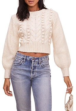 ASTR the Label Tina Cable Knit Sweater - 100% Exclusive