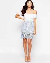 Glamorous Skirt In Floral Lace
