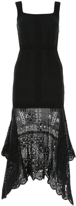 Alexander McQueen Crochet Trim Sleeveless Dress