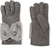 Australia Luxe Collective Bowie shearling-lined suede gloves