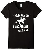 Women's I Never Fall Off My Horse T-Shirt Small