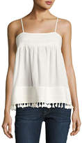 The Great The Park Pleated-Trim Tank, White