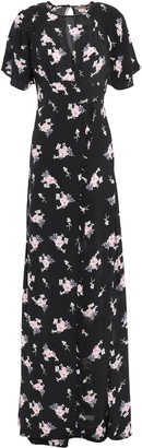 By Ti Mo Bytimo Wrap-effect Ruffled Floral[-print Crepe Maxi Dress