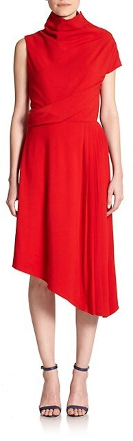 Carven Asymmetrical Twill Dress
