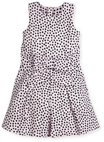Kate Spade Jillian Sleeveless Ponte Polka-Dot Dress, Pink/Black, Size 7-14