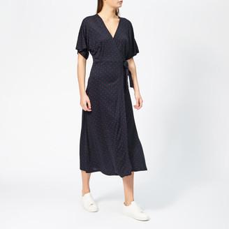 Whistles Women's Spot Wrap Jersey Dress