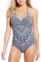 Laundry by Shelli Segal Bohemian Wrap Halter One-Piece