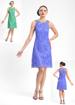 Sue Wong Sleeveless Beaded Short Dress in Periwinkle N5234