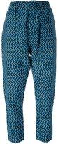 Marni geometric print trousers