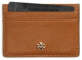 Tory Burch 'Robinson' Slim Saffiano Leather Card Case