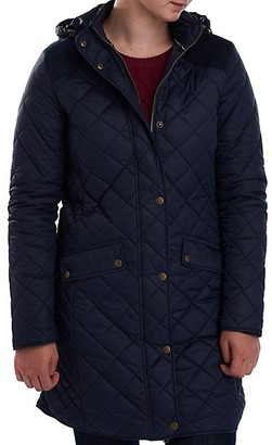 Barbour Burne Quilted Hooded Longline Jacket