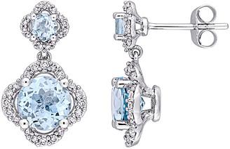 Rina Limor Fine Jewelry 14K 4.02 Ct. Tw. Diamond & Sky Blue Topaz Earrings