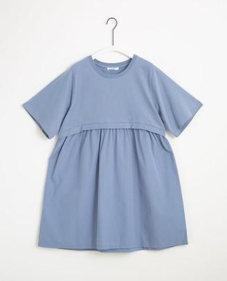 Beaumont Organic Jaina Organic Cotton Dress In Sky - Sky / Small
