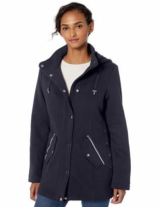 INTL d.e.t.a.i.l.s Women's Hooded Sweatshirt Jacket with Asymetrical Zip
