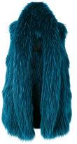 Liska - sleeveless fur coat - women - Raccoon Dog - S