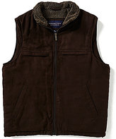 Roundtree & Yorke Microsuede Faux Sherpa Vest