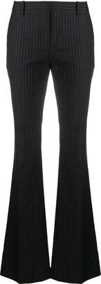 Alexander McQueen Pinstripe Flared Trousers