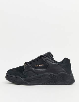 Lacoste court slam chunky trainers in black