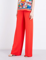 Emilio Pucci Wide-leg crepe trousers