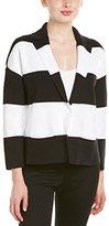 Anne Klein Women's Cotton Crepe Stripe Sweater