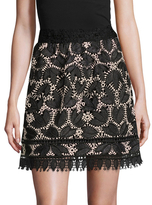 Anna Sui Lace A Line Skirt