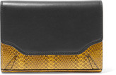 Rag & Bone Paneled snake-effect and smooth-leather wallet