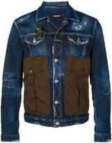 DSQUARED2 denim jacket with oversized pockets