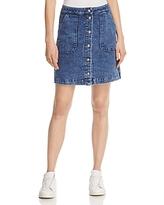 Three Dots Snap Front Denim Skirt