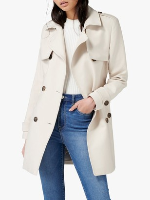 Forever New Aaliyah Trench Coat, Stone