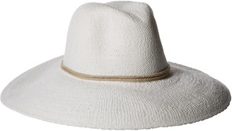 Ale By Alessandra womensPraiaPraia Woven Toyo Hat with Contrast Rope Trim Hat - Multi - One Size White