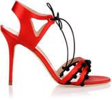 Manolo Blahnik Esparra red satin sandal