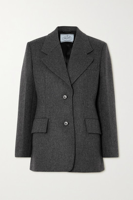 Prada Wool-twill Blazer - Gray