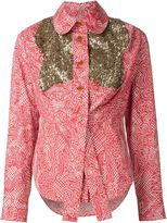Vivienne Westwood sequinned panel shirt