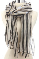 Charlotte Russe Striped Floral Print Scarf