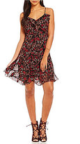 Chelsea & Violet Printed Ruffle V-Neck Dress