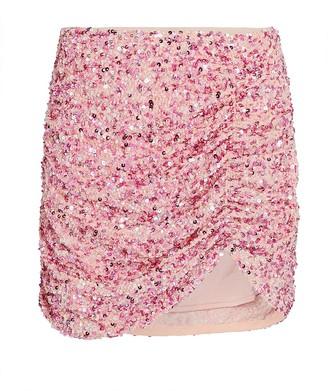 retrofete Celestia Ruched Sequin Skirt