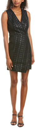 BCBGMAXAZRIA Eyelet Sheath Dress