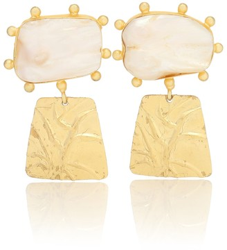 PEET DULLAERT Laloc 14kt gold-plated pearl earrings