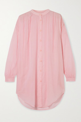 Skin Brea Oversized Cotton-voile Kaftan - Pastel pink