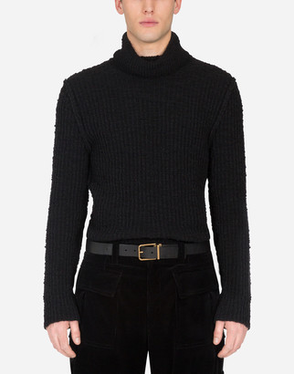 Dolce & Gabbana Ribbed Wool Turtle-Neck Sweater