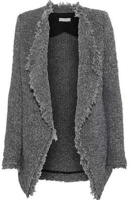 IRO Campbell Frayed Boucle-knit Jacket