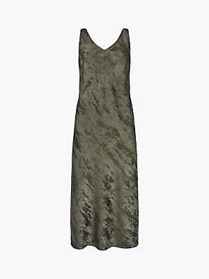 Mint Velvet Shimmer Slip Dress, Grey